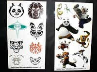 Disney Kung Fu Panda Figures Birthday Party Favors Decal Tattoos 2008 Lot of 48
