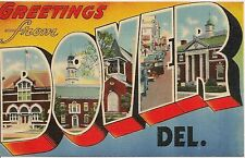 Greetings From Dover De Large Letter Linen Postcard