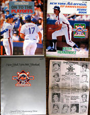 "1986 New York Mets 25th Anniversary Year Book, Score Book, ""To Playoffs"", Team"