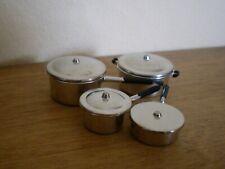 Dollshouse Miniature  ~ METAL ~ Saucepan Set