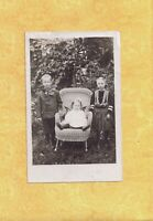 NY Westkill area 1907 RPPC real photo postcard THREE CHILDREN to Perry Ware