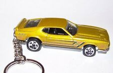 CUSTOM MADE..1971 MUSTANG MACH 1 (GOLD MET./GRAPHICS)..KEYCHAIN..GREAT GIFT!