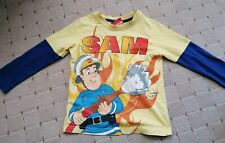 Ufficiale Pompiere Sam Ragazzi Manica Lunga Top T-shirt 100/% COTONE 3-10 anni