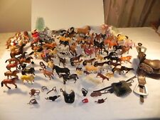 Huge Lot of Toy Horse Figures Schleich Funrise Imperial Breyer Safari Empire +++