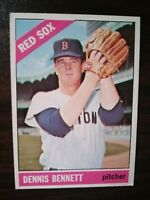 1966 Topps Set Break #491 Dennis Bennett BOSTON RED SOX FREE SHIPPING