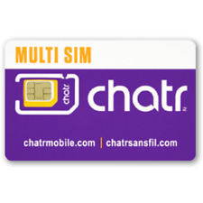 ChatR Multi sim card ( Regular + Micro + Nano ) 3 in 1 LTE NFC Prepaid Postpaid