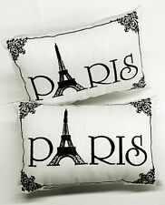 """Paris"" -Accent Pillows -Set of 2 - Ornate Embroidery, Small - 8 1/2"" x 5 1/2"""