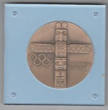 Polen  Oly Montreal + Polnischer Olympia Fond 1976 Medaille 103 Gramm  ca. 58 mm