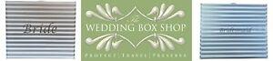 Wedding Bridesmaid Bride dress Storage or gift box. Silver & White Ph neutral