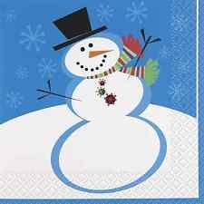 Natale-Pupazzo di neve TOVAGLIOLI SERVIZIO DA TAVOLA TOVAGLIOLI
