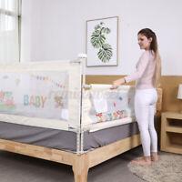 "71"" Adjustable Children Bed Barrier Fence Guardrail Security Baby Playpen US ac"