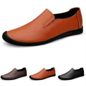 Mens Driving Moccasins Shoes Pumps Slip on Loafers Soft Comfy Breathable Flats L