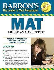NEW - Barron's MAT: Miller Analogies Test