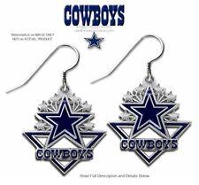 DALLAS COWBOYS EARRINGS - TEAM LOGO EAR GEAR  SPORTS NFL FOOTBALL FREE SHIP #AH