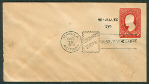1970 Philippines RE-VALUED 10s Jose Rizal SURCHARGED STAMPS Cover