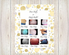 Baby Shower Game Baby Belly or Beer Belly  20 sheets Players