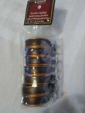 Levolor Decorative Clip Rings 1 in Wood Metal Set of 7 Metal Clips