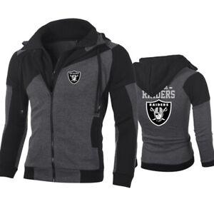 Las Vegas Raiders Hoodie Football Full Zip Sweatshirt Casual Hooded Jacket Gifts