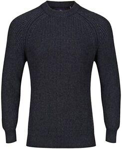 Luke Men's 1977 Plated Crew Rib Sweater - Navy