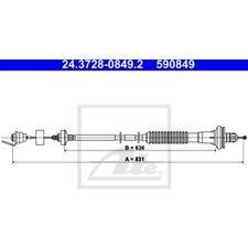 Kupplungsbetätigung ATE 24.3728-0845.2 Seilzug