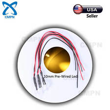 10Pcs 10mm Pre-Wired DC 9-12v Warm White Round Top Water Clear Light LED Diodes