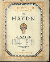 Haydn, Sonate 12 ~  übergroße, alte Noten