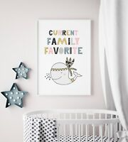 Girls Nursery Art Print / Picture With Whale / Scandi / Current Family Favorite