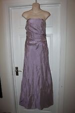 Ladies Lilac Purple Jim Hjelm Ball Gown Size 14 Strapless Prom Bridesmaid Dress