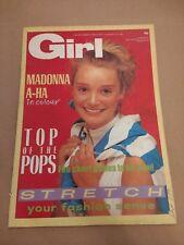 GIRL MAGAZINE 13th September 1986 No. 292 MADONNA / A-HA IN COLOUR