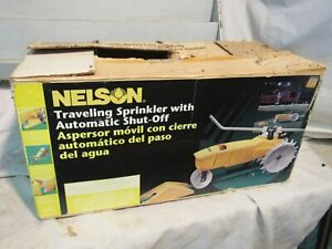 New never used Vintage NELSON TRAVELING SPRINKLER w/ AUTO SHUT-OFF & DIRECTIONS