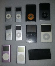LOT OF 11 MIXED iPOD CLASSIC, NANO, MINI AND AN ITOUCH 5TH GEN