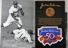 1997 Jackie Robinson 50 Anniversary Gold-Tone Coin & Patch Set