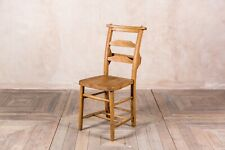 More details for solid oak dining chairs antique style chapel church chairs with bar back design