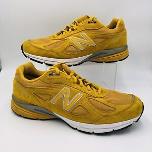 New Balance 990v4 Size 13 Yellow Running Shoe M990QK4 Made In The USA