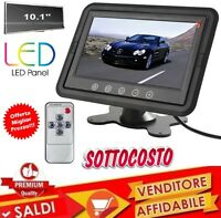 "TV TELEVISORE MONITOR LCD DIGITALE 10.1"" TFT LED HD POGGIATESTA SORVEGLIANZA AV"