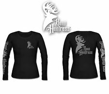Bow Huntress Logo t shirt Women's Long sleeve hunting deer hunting  logo hunter