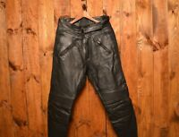BELSTAFF MOTORCYCLE 1980 LEATHER CAFE RACER RIDERS BIKER VINTAGE PANTS SIZE W-34