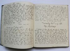 ANTIQUE HANDWRITTEN DIARY JOURNAL 1863. Lovely writing. 6 months of entries.