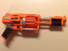 Nerf Dart Tag Gun Orange Fury Fire Blaster Revolving Pump Shooter 10 Dart Loader