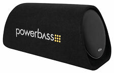 "POWERBASS BTA8 8"" 150w Powered Loaded Subwoofer Bass Tube Sub Enclosure System"