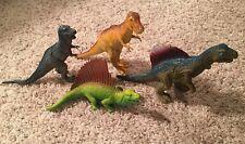 Lot 4 Dinosaurs TRex  Spinosaurus Allosaurus Metriacanthosaurus Plastic Preowned