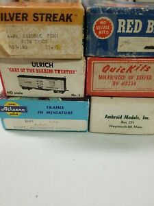 Ho Scale Freight Car Kits  Lot of 6