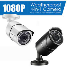 ZOSI HD 1080P 4 IN 1 65ft 3.6mm Outdoor Video CCTV Security Camera Power Supply