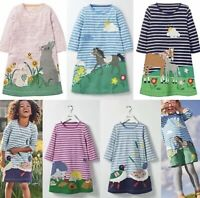 Mini Boden Long Sleeve Applique Dresses 1 2 3 4 5 6 7 8 9 10 11 12Yrs