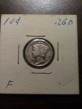 1936-D 10C Mercury Dime in very fine condition