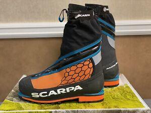Scarpa Phantom 6000 Mountaineering Boots Black-Orange EU Size 42