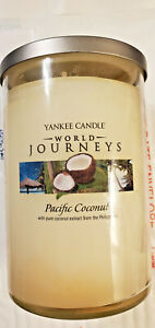 Yankee Candle PACIFIC COCONUT 2-Wick 20oz Tumbler Jar Candle World Journeys 2013