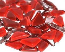 Verre Cristal Mosaïque Tuile Formes - Coquelicot Rouge