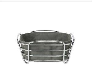 Blomus Delara Square Metal  Bread Basket , Agave Green. 26 cm X 26 cm X 9cm. NEW
