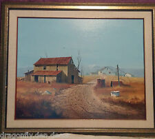 "1974 Original Mixed Media Painting  Gerald V. Lilly ""Country Hideaway"" 16"" x 20"""
